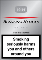 Benson & Hedges Silver Cigarette Pack