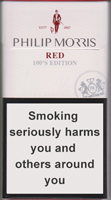Philip Morris Red 100S Cigarette Pack