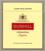 Dunhill International Lights Cigarette Pack