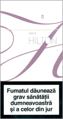Hilton Super Slims White 100's Cigarette Pack