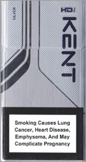Kent HDi Silver Cigarette Pack