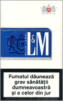 L&M Lights (Blue) Cigarette Pack