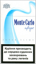Monte Carlo Super Slims Intrigue 100`s Cigarette Pack