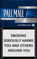 Pall Mall Silver Cigarette Pack