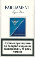 Parliament Aqua Blue (Lights) Cigarette Pack