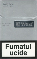 West Silver Fusion Cigarette Pack