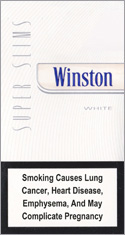 Winston Super Slims White 100s Cigarette Pack