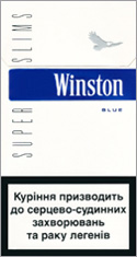 Winston Super Slims Blue 100`s Cigarette Pack