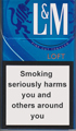 L&M Loft Blue Cigarettes pack