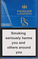Parker & Simpson Blue Cigarettes pack