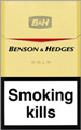 Benson & Hedges Gold Cigarettes pack
