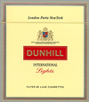 Dunhill International Lights Cigarettes pack