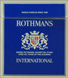Rothmans International Cigarettes pack