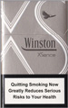 Winston XSence White(mini) Cigarettes pack