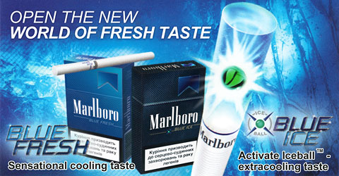 Marlboro Blue Ice and Fresh Menthol